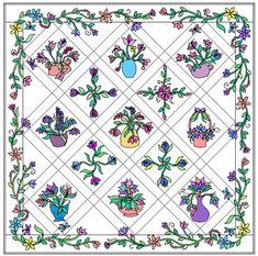 Designing applique borders in Electric Quilt Electric Quilt, Quilt Sizes, Corner Designs, Applique Quilts, Quilt Top, Applique Designs, How To Take Photos, True Colors, Quilt Blocks