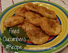 Fried Cucumbers #Recipe.  These are very good, similar to zucchini.