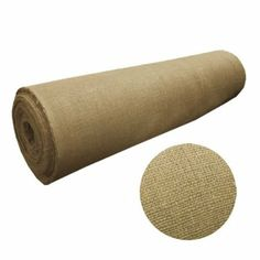 """60"""" Wide Natural Burlap: buy in lengths from 1yd to 90 yards...perfect for tablecloths, home decor or crafts. {via Amazon}"""
