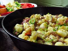 Breakfast Beauty: Sausage, Onion and Potato Hash (http://blog.hgtv.com/design/2014/08/07/sausage-onion-and-potato-hash-recipe/?soc=pinterest)
