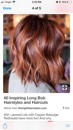 Burgundy And Copper Balayage Lob 60 Inspiring Long Bob Hairstyles and Haircuts Balayage Lob, Copper Balayage, Hair Color Balayage, Burgundy Balayage, Auburn Hair Balayage, Burgundy Nails, Hair Color Auburn, New Hair Colors, Short Auburn Hair
