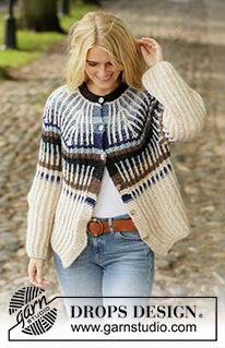 Women - Free knitting patterns and crochet patterns by DROPS Design Free Knitting Patterns Uk, Sweater Knitting Patterns, Knit Patterns, Free Pattern, Drops Design, Knitting Gauge, Knitting Books, Magazine Drops, Knitting Magazine