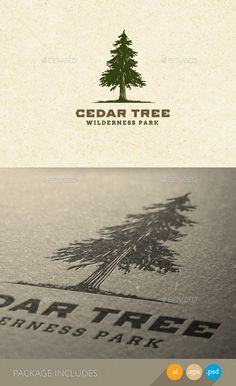 Cedar Tree Wilderness Park Nature - Logo Design Template Vector #logotype Download it here: http://graphicriver.net/item/cedar-tree-wilderness-park-nature-logo/11274261?s_rank=318?ref=nexion