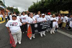 Distintos grupos formaron parte de la VI Caminata de Adultos Mayores