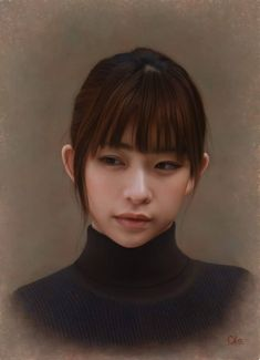 These beautiful portraits may perhaps appear to be high-definition artistic photos, or perhaps the product of CGI, however they are in fact oil paintings made by Japanese artist Yasutomo Oka. John William Waterhouse, Hyper Realistic Paintings, Cool Paintings, Japan Painting, Traditional Paintings, Japanese Artists, Poses, Portrait Art, Painting Portraits