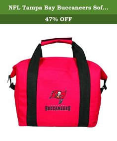 NFL Tampa Bay Buccaneers Soft Sided 12-Pack Cooler Bag. This officially licensed 12-Pack cooler is perfect for sporting events, day trips, panics, etc. The cooler is soft-sided and folds for easy storage. The cooler has an easy grip handle and cleans up with a damp Cloth.