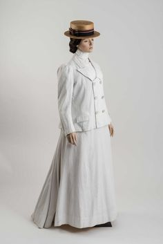 Tennis, anyone? White ribbed cotton suit c. 1890s, at the Fashion Museum Bath. Via @Fashion_Museum on Twitter.