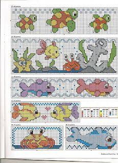 whale cross stitch pattern bib - Google Search
