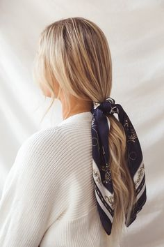 Hairdo For Long Hair, Easy Hairstyles For Long Hair, Long Hair Cuts, Everyday Hairstyles, Pretty Hairstyles, Heatless Hairstyles, Work Hairstyles, Scarf Hairstyles, Hair Scarf Styles