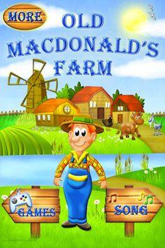 old macdonald sing along, animal piano, puzzles, game