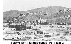 a Different view of Tombstone, AZ. 1882. The famous gunfight was in 1881.