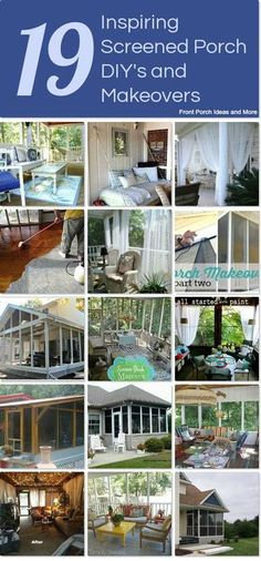 DIY screened porch ideas that we gathered together on Hometalk. From inspirational to makeovers to tips for screening.