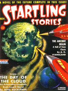 18x24 Vintage Sci-Fi Comic Book Print.Startling Stories - The Day of the Cloud Poster -094. $30.00, via Etsy.