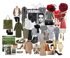 Vintage Basics by supersilent on Polyvore featuring moda, CO, Blair, MANGO, WearAll, Anna Sui, Jil Sander, Karen Millen, Miss Selfridge and PINGHE