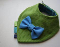 Bow tie bib baby bandana bib removable bow tie nice by BizBizBaby