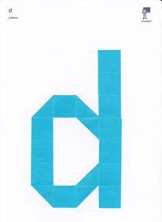Vouwvoorbeelden van het hele alfabet