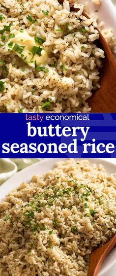 Simple seasoned rice is a homemade version of boxed rice like Uncle Ben's and Rice-a-Roni! Quick way to add flavour to white rice to make it super tasty. Seasoned Rice Recipes, White Rice Recipes, Simple Rice Recipes, Tasty Rice Recipes, Healthy Recipes, Rice Side Dishes, Food Dishes, Simple Rice Dishes, Gourmet