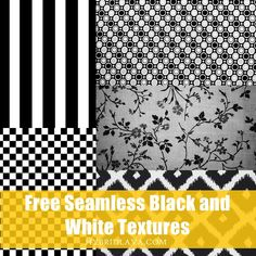 30 Free Seamless #Black and #White #Textures