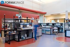 Custom Diagnostics Laboratory Furniture | FORMASPACE | Every thing has a place and every place has a thing in this custom designed laboratory.