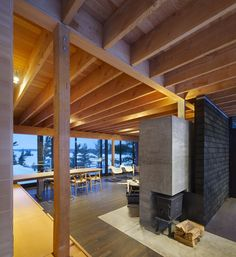This four-season family cabin is a response to the cultural heritage landscape of Go Home Bay, an enclave of Ontario's Georgian Bay archipelago. An area immo. Cedar Shingles, Contemporary Cottage, Cozy Place, Old Houses, Ontario, Cribs, Pergola, Southern, Outdoor Structures