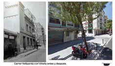 Carrer Vallparda con Viñeta, antes y después.