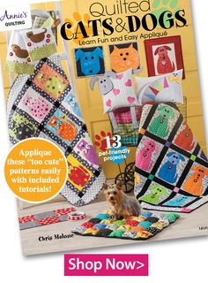 Quilted Cats & Dogs - Learn Fun and Easy Applique