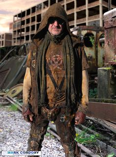 Post Apocalyptic Mad Max style LARP costume. Mark Cordory Creations…