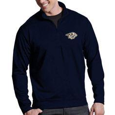 Nashville Predators Antigua Leader 1/4 Zip Pullover - Navy Blue - $56.99