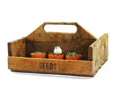 Reclaimed Wood Garden Tote  Wood Tote with by TimelessFindsVintage, $36.00