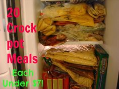 20 Crock Pot Meals -- Each under $7!!! Recipes from Organizer By Day