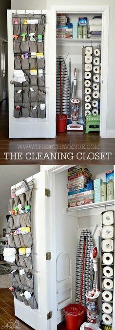 Cleaning Closet #kitchenorganization