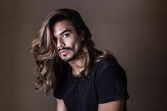 You'll find short haired men too, but only with Gorgeous Sexy Hair! Beautiful Men Faces, Gorgeous Men, Hair And Beard Styles, Curly Hair Styles, Dark Skin Men, Long Hair Beard, Hair Barber, Male Beauty, Hair Trends