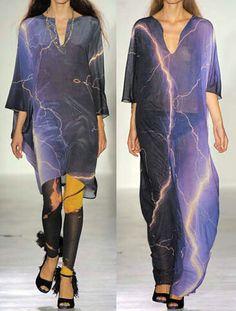 Lightning inspired tunics
