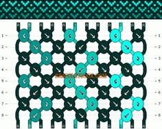 Normal Friendship Bracelet Pattern #10968 - BraceletBook.com