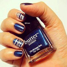 """#butterlondon """"big smoke"""". #tjakasasnails #butterlondonbigsmoke #nagellack #nailart #blue #blau #bluenails #bigsmoke #nailsart #nageldesign #notd #nails #cutenails #beauty #nails2inspire"""