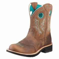 02af3f9dbe5e Ariat Women s Fatbaby Cowgirl Boot - Powder Brown Tan  ~  These could very  well be my next pair of short boots.