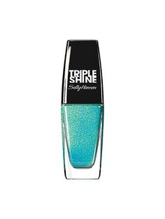 Color of the moment: Ocean blue—The iridescent Sally Hansen Triple Shine Nail Polish in Make Waves morphs from a baby blue to moss green depending on the light