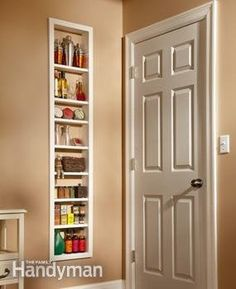 Install an Ikea shoe cabinet between studs by the side door.