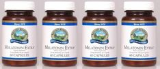 """MELATONIN EXTRA 3MG, Dietary Supplement, 60 Capsules, 3.0 mg, """"FAST SHIPPING"""" 4 PACK SAVING! Nature's Sunshine,"""