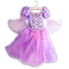 Disfraz Traje De Rapunzel Para Niñas Disney Store - $ 1.200,00