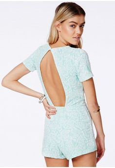 Alineh Floral Playsuit With Open Back - Jumpsuits & Playsuits - Playsuits - Missguided