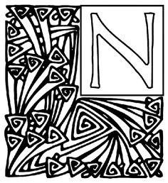 Alphabet Garden N coloring page