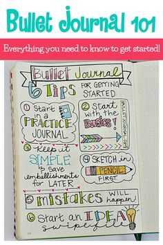 Creative Organization: Bujo 101 Everything you need to know to start a Bullet Journal! Creating the perfect planner for you. Bujo tips Bullet journal ideas Bullet Journal Vidéo, Bullet Journal Minimalist, Bullet Journal Cover Page, Bullet Journal Printables, Bullet Journal How To Start A, Bullet Journal Themes, Bullet Journal Layout, Bullet Journal Inspiration, Journal Pages