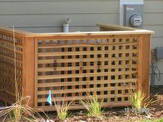 Fences Around Pool Equipment - - Yahoo Image Search Results Diy Backyard Fence, Backyard Camping, Backyard Retreat, Outdoor Landscaping, Backyard Ideas, Fence Ideas, Backyard Designs, Landscaping Design, Patio Ideas