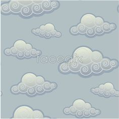 Ancient clouds graphic Vector