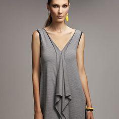 Ruffle Singlet Dress - Ink & silvermarl - hardtofind.