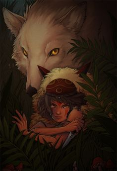 Mononoke GID print from J I E Y Illustration