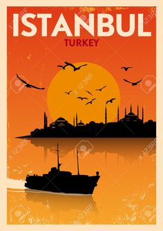 vintage travel poster istanbul - Google Search