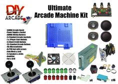 Build your own home arcade machines with our top-rated arcade machine parts and accessories. DIYArcade is the best arcade parts store around. Shop for the best DIY arcade cabinet kits and parts for sale. Shop now and build your own arcade machine at home. Pi Arcade, Bartop Arcade, Arcade Joystick, Arcade Room, Retro Arcade, Arcade Games, Power Grid Board Game, Man Cave Arcade, Arcade Game Console