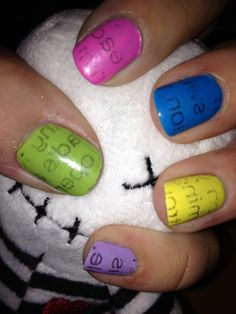 How to Do Newspaper Prints on Nails:)